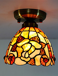7 inch Retro Tiffany Ceiling Lamp /Shell Shade Flush Mount Living Room Dining Room light Fixture