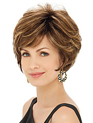 Woman's Light Multi-color Curly Short Synthetic Wigs