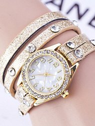 Women's Fashion Watch Bracelet Watch Simulated Diamond Watch Imitation Diamond Quartz PU Band Flower Black White Blue Red Purple Yellow