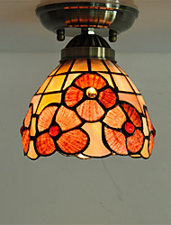 5 inch Retro Tiffany Ceiling Lamp /Shell Shade Flush Mount Living Room Dining Room light Fixture