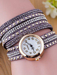 Velvet Belt Drilling Circle Table Ladies Fashion Rivet Watches