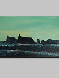 Peint à la main Abstrait / Célèbre / Paysage / Paysages Abstraits Peintures à l'huile,Classique Un Panneau ToilePeinture à l'huile