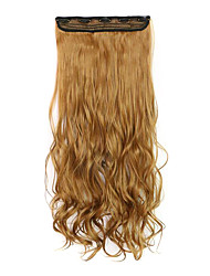 Light Black Length 70CM Synthetic Curly Hair Non-Trace Five Clip Hair Hair Slice Of A Chip(Color 6A)