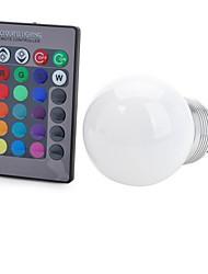 E26/E27 Bombillas LED Inteligentes T 1 COB 100-200 lm RGB Control Remoto Decorativa AC 85-265 V 1 pieza