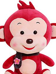 Fubao singe singe mascotte du zodiaque singe marionnette poupée bébé en toute sécurité en peluche jouets 25cm vin rouge
