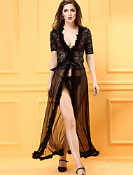 Women Gartered Lingerie / Lace Lingerie / Robes / Ultra Sexy / Suits Nightwear,Acrylic / Lace / Spandex