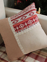 Cotton Linen Novelty  Special National Style Cushion Pillow Cover for Home Decoration 2Colors (Red , Dark Blue)