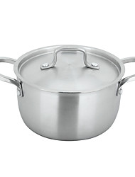 304  Stainless Steel Pot 18cm  With Five Layers Of Steel(3-5 People To Used)Cooker Gas Stove Universal