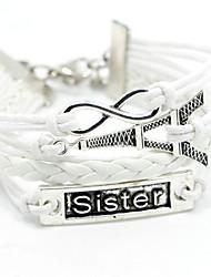 Bracelet Chaînes & Bracelets / Bracelets Wrap / Bracelets Vintage / Bracelets en cuir Alliage / Cuir Inspiration Soirée / Quotidien Bijoux