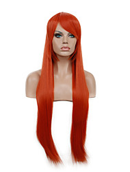 Hannah Anafeloz Red Color Cosplay Wig  Long Straight Synthetic Wig.