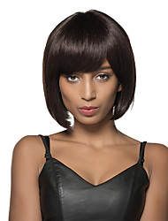 pretty Bob Hairstyles Hand Tied Top Remy Human Hair Capless Black Wigs