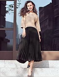 VERRAGEE® Women's Mid Rise Culotte Black Casual Pants-p402