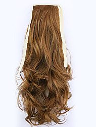Borwn Length 50CM Factory Direct Sale Bind Type Curl Horsetail Hair Ponytail(Color 27A)