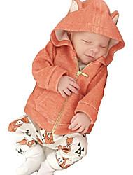 Pull à capuche & Sweatshirt Rembourré Coton Garçon Décontracté / Quotidien Couleur Pleine Coton Polyester Hiver Printemps AutomneManches