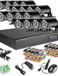16CH 16pcs rede DVR 960H 1000tvl ir ao ar livre Sistema CCTV câmeras de segurança