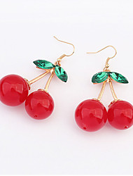 Sweet Cherry Earrings Korean Fashion Accessories