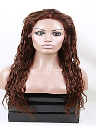 Evawigs Free Shipping 100% Brazilian Human Virgin Hair Front Lace Wig Natural Wavy Lace Wig