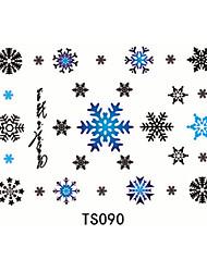 1pcs 3d floco de neve impermeável tatuagem