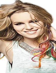 Clip synthetische dans les extensions de cheveux 1 clips 5color