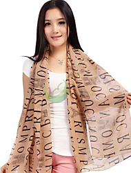 Ms. Long Chiffon Scarf Fashion Letters Print Scarves