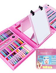 12 couleurs de fournitures d'art stylo aquarelle crayon peinture set outil pinceau