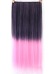 Straight Pink Colorful Human Hair Lace Wigs 1TPINK