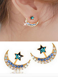 Earring Star Stud Earrings Jewelry Women Fashion Daily / Casual Alloy 1 pair Gold / Silver