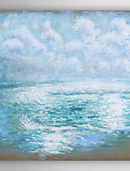 Hand Painted Oil Painting Landscape Blue Ocean Wave with Stretched Frame 7 Wall Arts®
