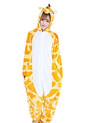 Kigurumi Pijamas Girafa Malha Collant/Pijama Macacão Festival/Celebração Pijamas Animal Laranja Miscelânea Velocino de Coral Kigurumi Para