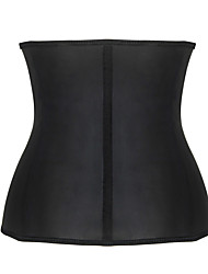 Burvogue Women's Black Steel Boned Waist Trainner Corsets Lingerie Body Shaper with three zippers