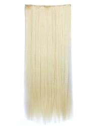 flaxen sintética comprimento 70 centímetros de receber um cabelo de ondulação chip de pílulas cabelo liso (cor 613)