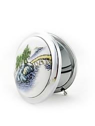 Персонализированные не-Пудреницы(Белый) -Урожай Theme Нержавеющая сталь / Керамика 7*7*1.5cm