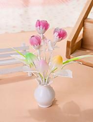 Creative Changeable Color  Pink Flower Light Sensor Night Light