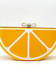 Women Metal Casual / Event/Party Evening Bag Orange