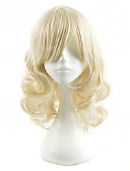 Capless Blonde color High Quality Short Wave Synthetic Wigs