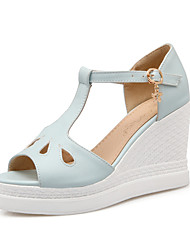 Women's Shoes Wedge Heel Wedges / Peep Toe / Platform / Open Toe Sandals Party & Evening / Dress  / Pink / White