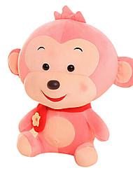 Fubao Monkey Monkey Mascot Zodiac Monkey Puppet Doll Baby Safe Pink Plush Toy 30Cm