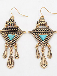 Earring Drop Earrings Jewelry Women Fashion / Vintage Party / Daily / Casual Turquoise 1 pair Bronze / Silver