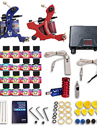 Dragonhawk® Complete Tattoo Kits 2 Machines 20 SetImmortal Tattoo Inks Lcd Dual Tattoo Power Supply