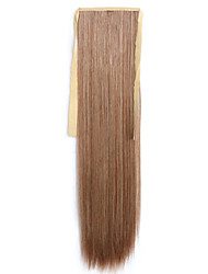 Brown Straight Blending Long Straight Hair Wig Ponytails 30B/613