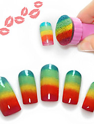 5PCS Nail Art Stamp Image Plate Stamper Nails Tool Nail File (Assorted Color)