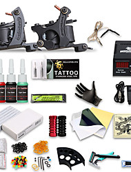 dragonhawk® kit de tatouage complet 2 Machine 4 encres de tatouage alimentation