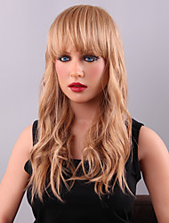 Gorgeous Woman's Human Virgin Remy Hand Tied-Top Long Loose Wave Capless Hair Wig