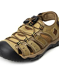 Men's Shoes Outdoor / Athletic / Dress / Casual Nappa Leather Sandals Big Size Brown / Khaki