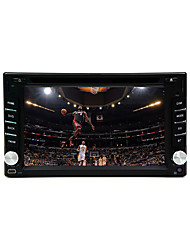 "6.2 ""2DIN LCD touch screen in-dash auto dvd-speler met stereo radio, dvd, sd,"