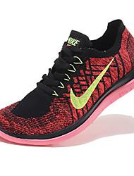 Nike Free Flyknit 4.0 Men's Sneaker Running Shoes Tulle Purple / Red / Gray / Light Green