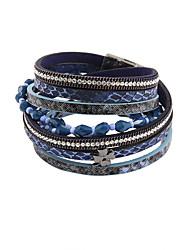 Bracelet Bracelets Bracelets en cuir Alliage Cuir Acrylique Strass Mode Vintage Bohemia style Style PunkSoirée Quotidien Décontracté