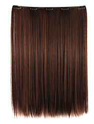 Wig maroon 52CM High Temperature Wire Length Straight Hair Synthetic Hair Extension