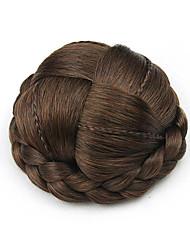 Kinky фигурные коричневый европы маленький человеческих волос монолитным парики шиньоны 2/30