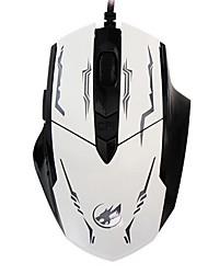 loup de guerre 6d câblés jeu souris souris 2400dpi lumière rétro-éclairé de respiration pour lol / cf / dota noir / blanc